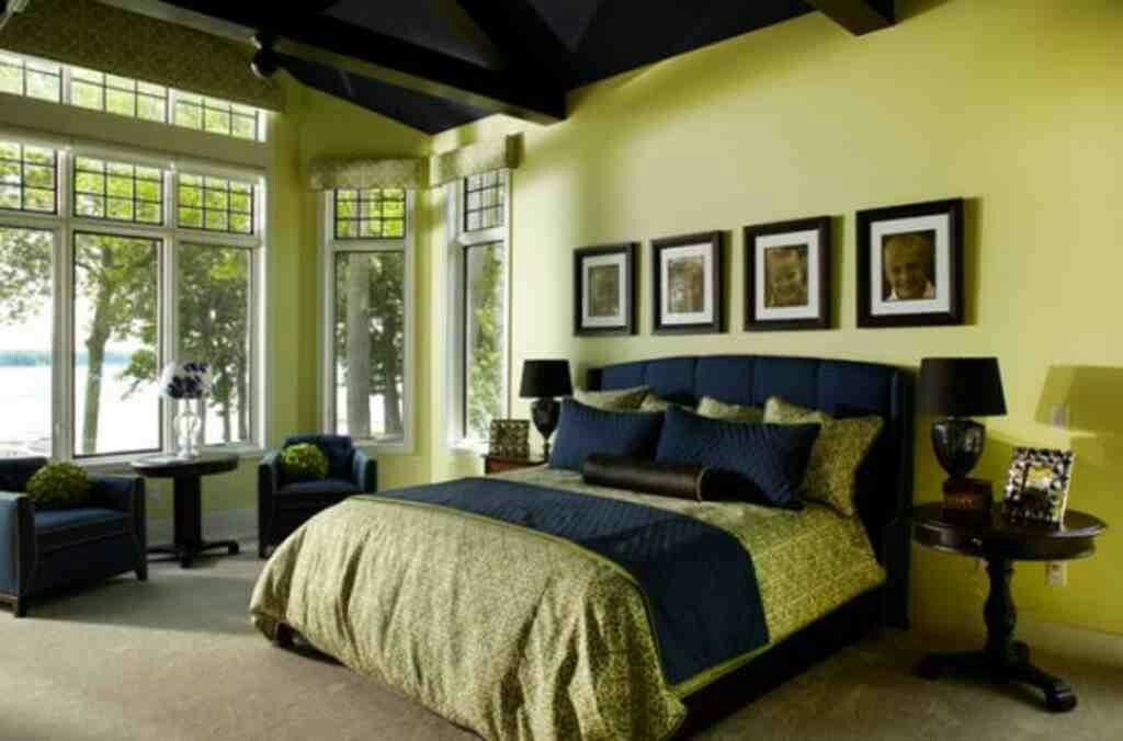 Olive Green Bedroom Idea Decor