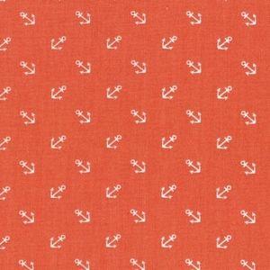 Dear Stella House Designer - Anchors Away - Tossed Anchors in Orange