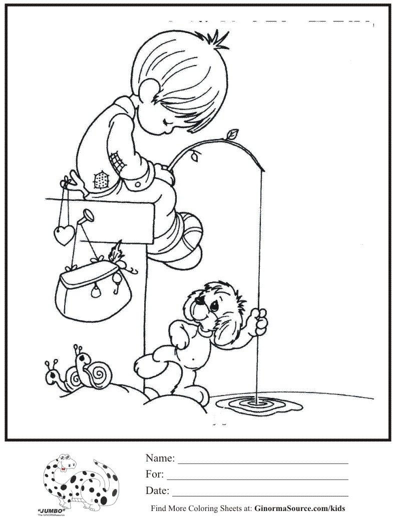 89 Coloring Pages Boy Fishing