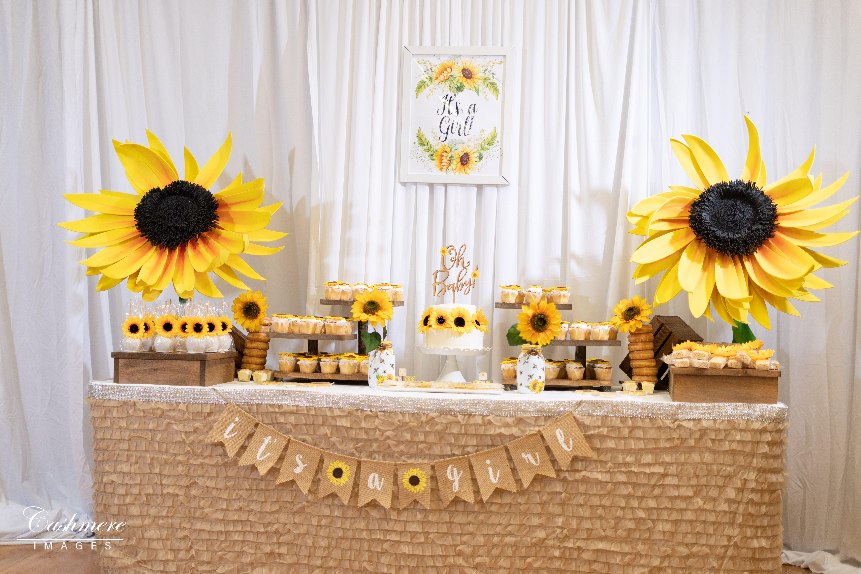 Pin by Khadijah on Sunflower baby shower | Sunflower baby ...