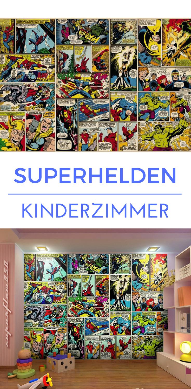 Marvel Comic Helden als Fototapete für das Kinderzimmer | Superheld ...