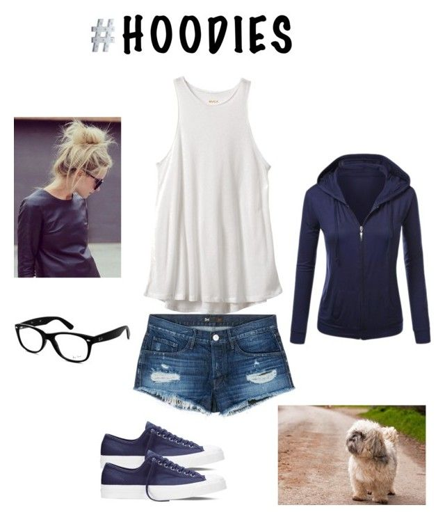 """# Hoodies"" by krishna-chudasama on Polyvore featuring RVCA, 3x1, Converse and Ray-Ban"