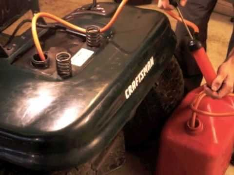 How to drain the gas from the gas tank in your mower