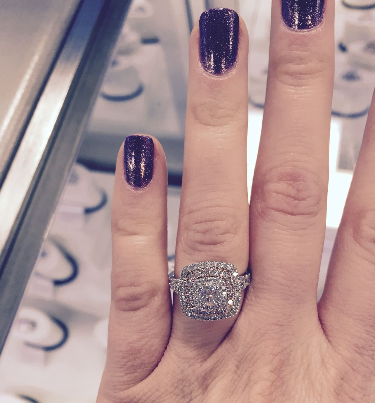 Single Center Bridal 1 41 Cttw I I1 Igi 14 Karat Two Toned 1 999 Sams Club This Ring Minus The Rose Gold E Ring Upgrade Hand Candy Wedding Bands