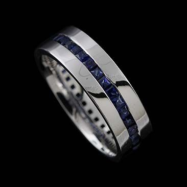 Mens Sapphire Wedding Band | I Like This As A Men S Wedding Band Princess Cut Channel Set