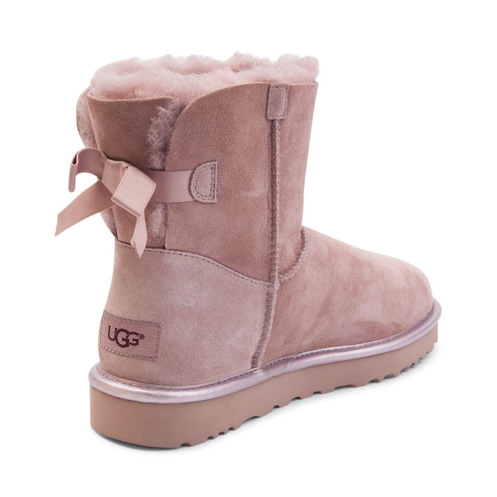 Womens UGG® Mini Bailey Bow II Boot - Light Pink - 581747