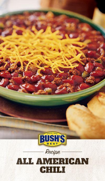 All American Chili Recipe All American Chili Recipe Chili Recipe Easy Chili Recipes