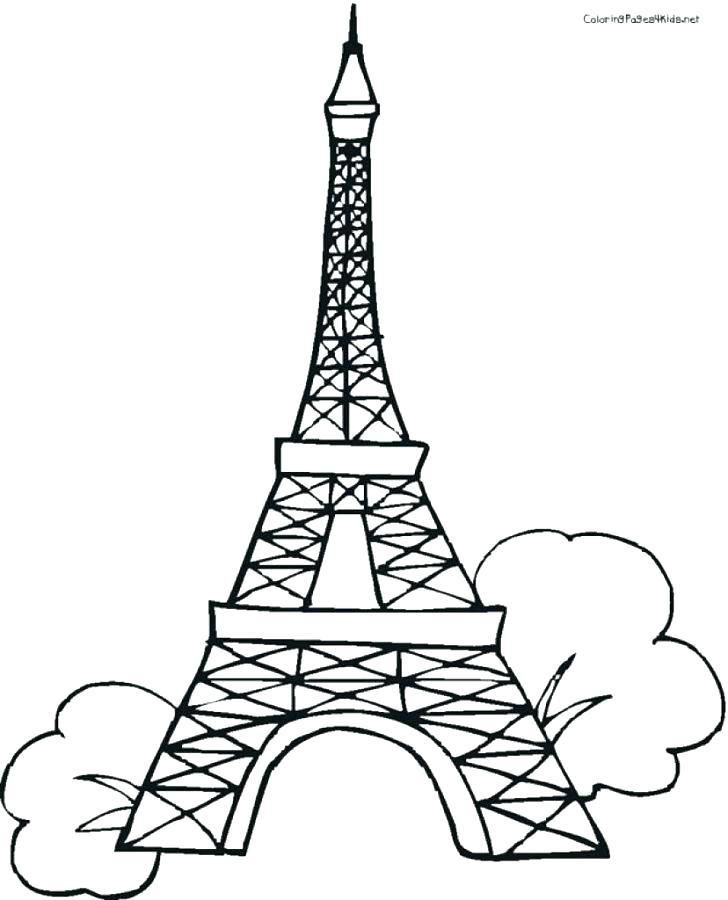 Eiffel Tower Coloring Page Crafty Eiffel Tower Drawing Paris