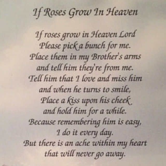I Miss You Brother Poems Death 2