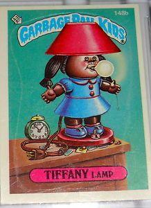 Garbage Pail Kids Tiffany Lamp 1980 S Trading Card Sticker Rare Vintage Lot Garbage Pail Kids Garbage Pail Kids Cards Garbage