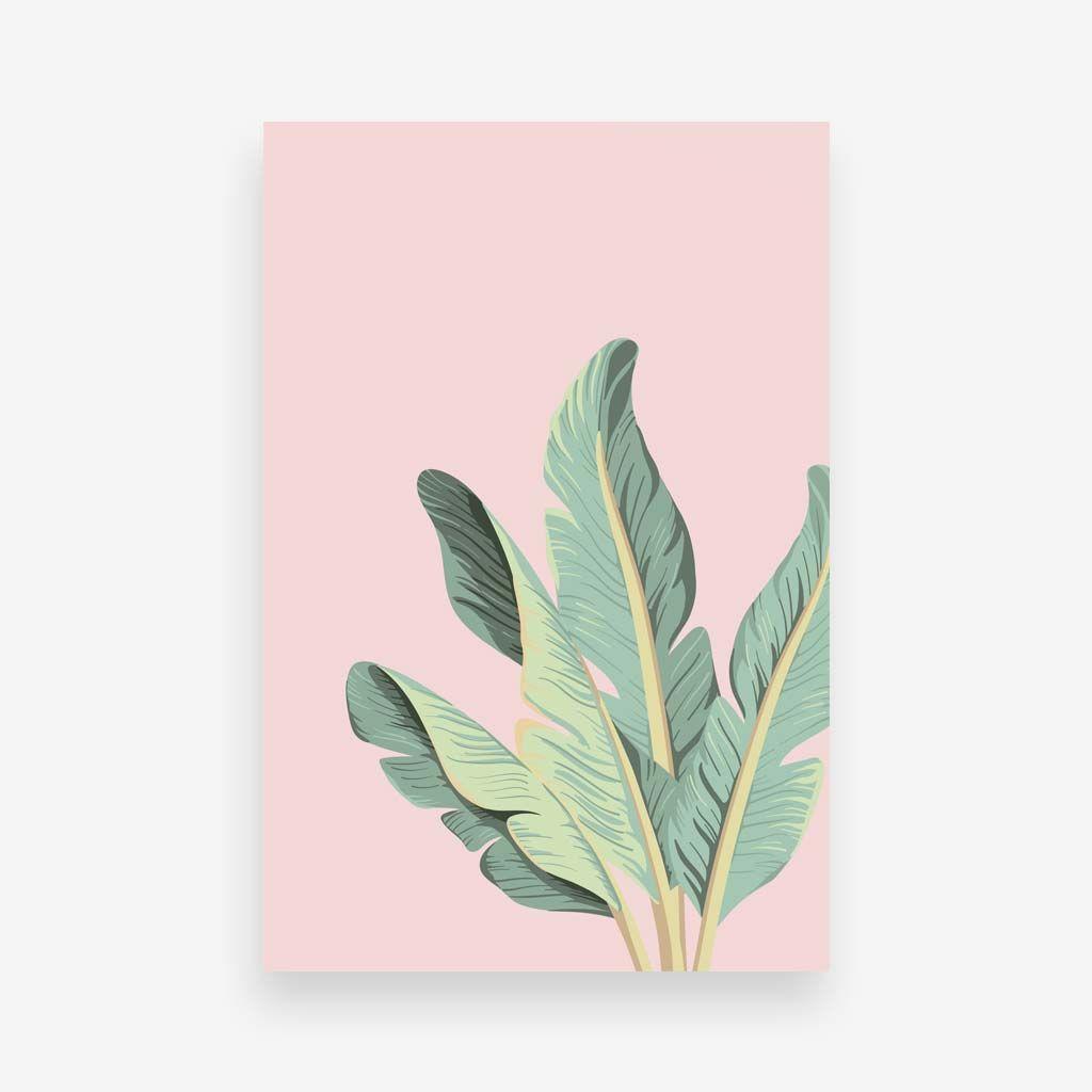 pastel banana leaf art interior craft design inspiration
