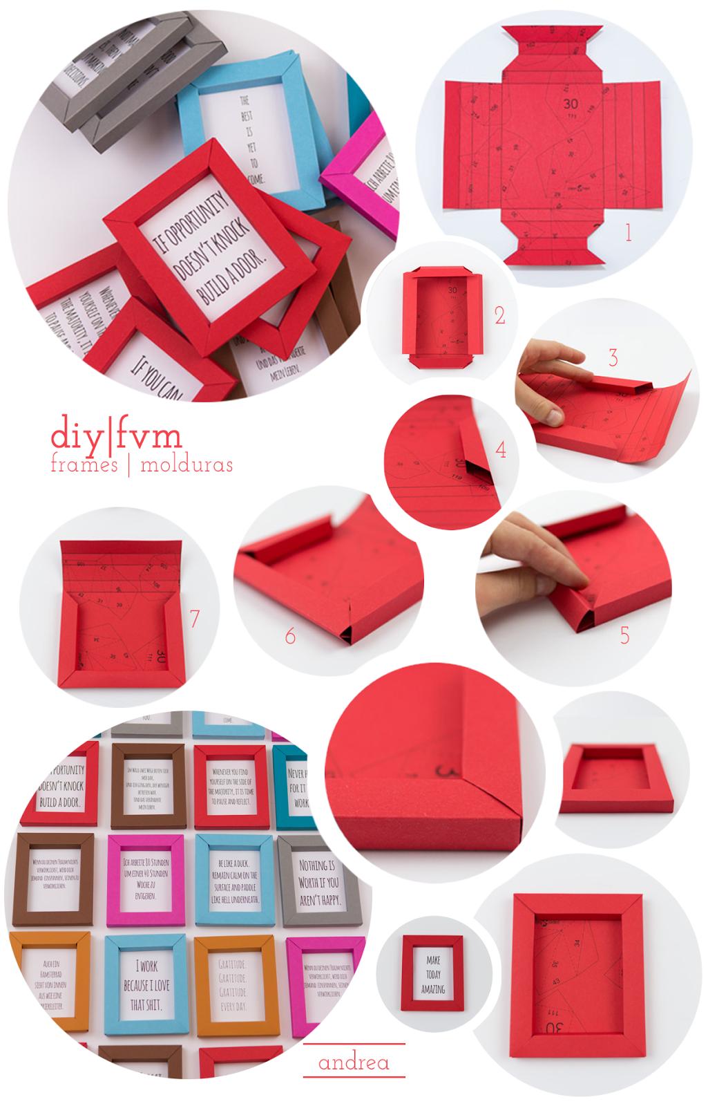molduras em papel | enmarcar cuadros de. carton | Pinterest | Papel ...
