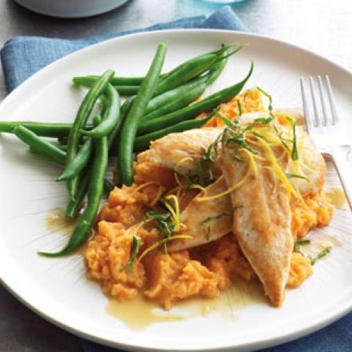Lemon Chicken With Sweet Potato Mash Australian Healthy Food Guide