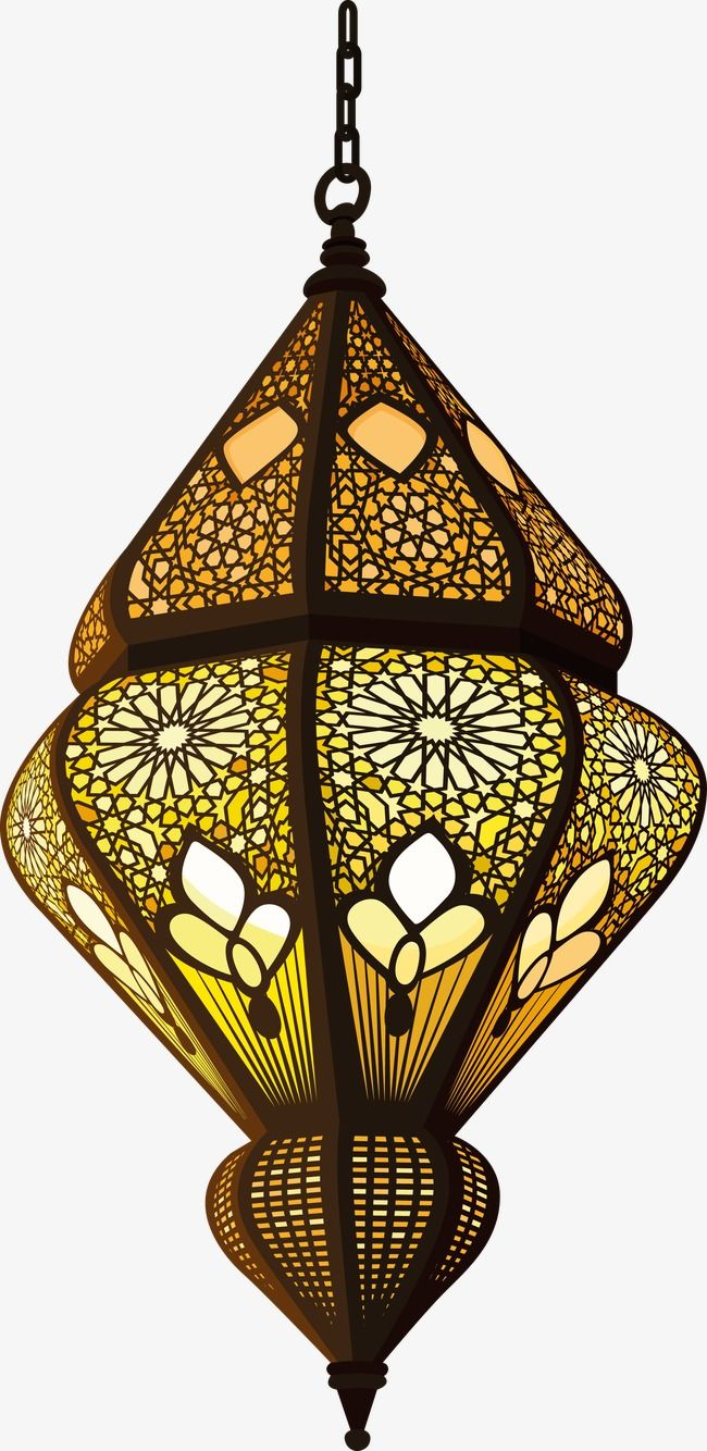 Glass Lamp Vector Islam Decorative Lamp Decoration Vector Islam Png