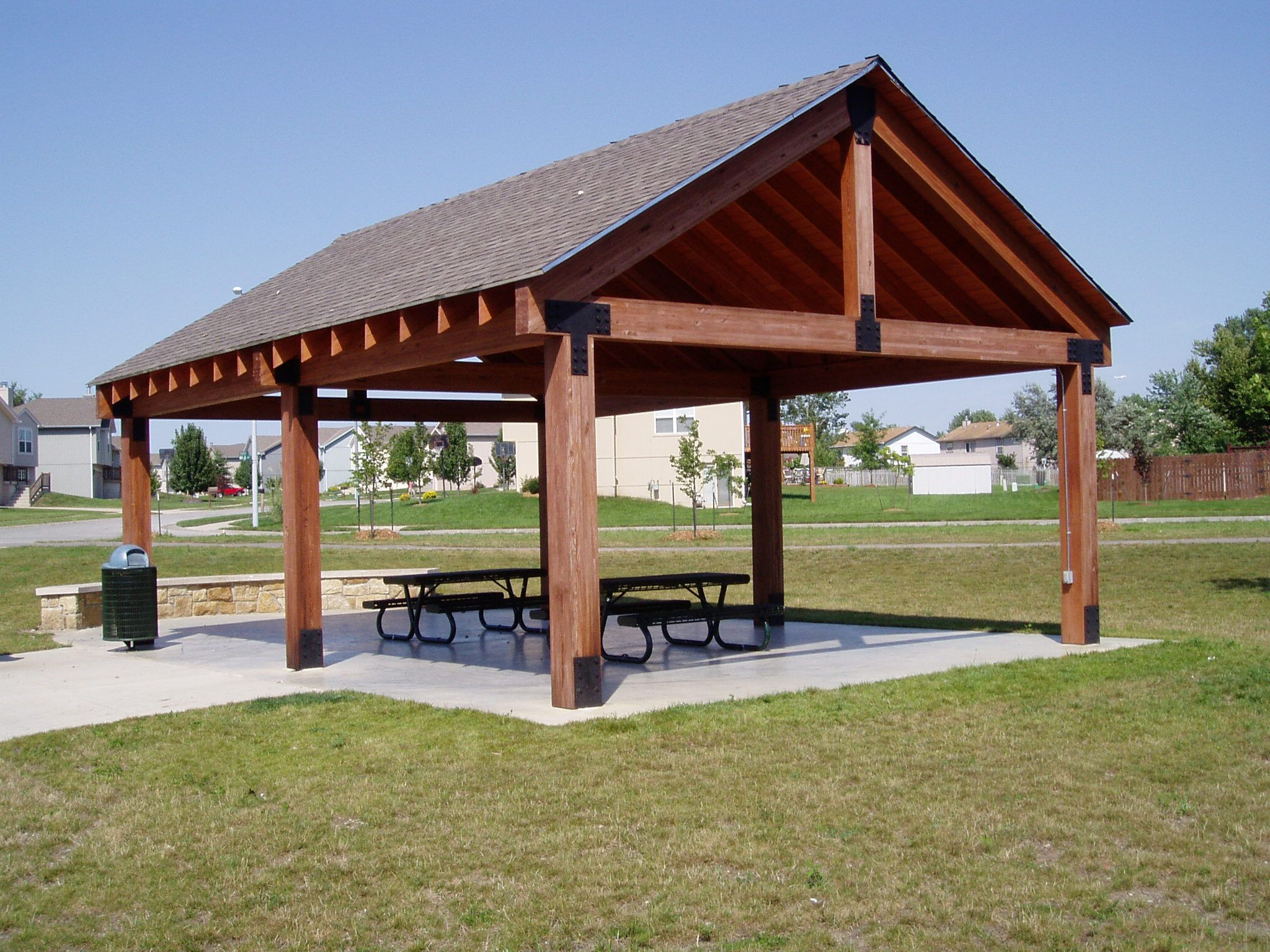 Picnic shelter plans winwood park city of gardner for Average cost to build a pavilion