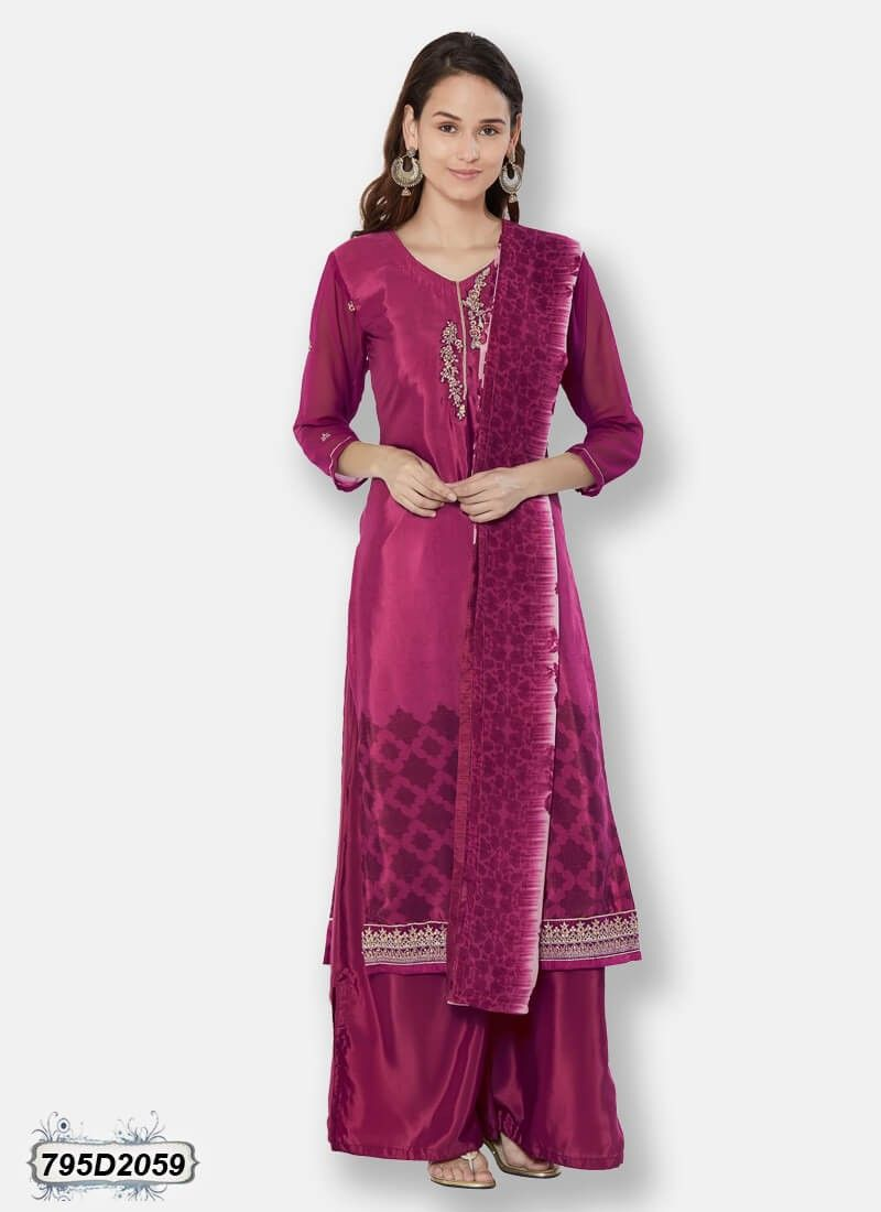 e947cc8ae8 Buy Enthralling Magenta Colored Crepe Party wear Salwar Suit Online at  Satrani Fashion: SAT795D2059