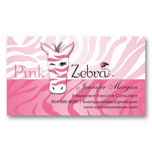 Pink Zebra Business Cards Zazzle Com Pink Zebra Business Card Pattern Girly Business Cards