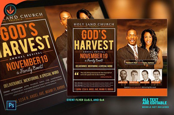 Gods Harvest Revival Flyer Flyer Template And Template