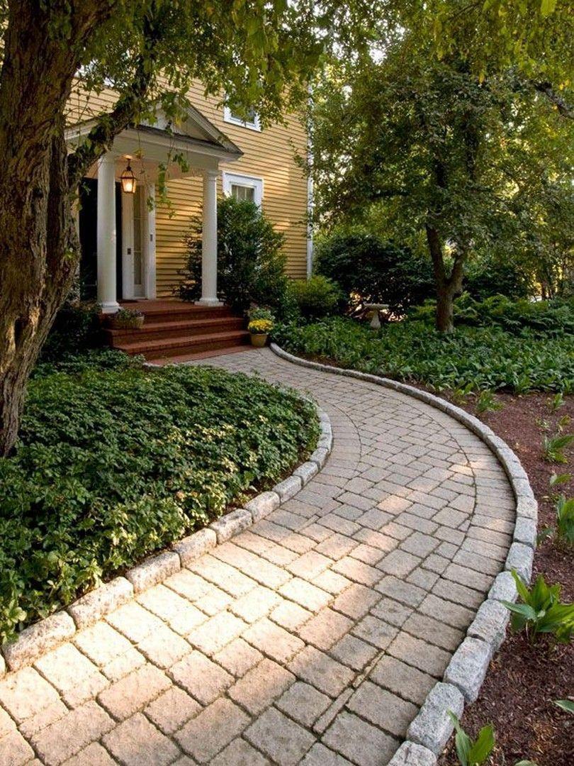 35 Front Yard Sidewalk-Garden Ideas #modernfrontyard marvelous 35 Front Yard Sid...,  #Front #ideas #Landscapingfrontyardsidewalk #Marvelous #modernfrontyard #sid #SidewalkGarden #Yard