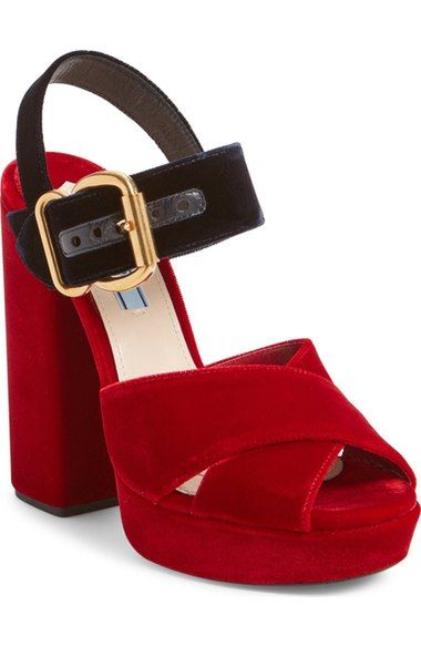 79d66b14 PRADA Buckle Platform Sandal (Women). #prada #shoes #sandals | Shoes ...