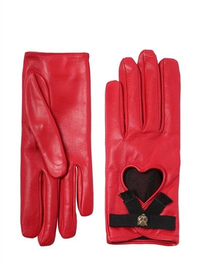 GUCCI Leather Gloves W  Bow   Cat Detail 6332b67e9f5