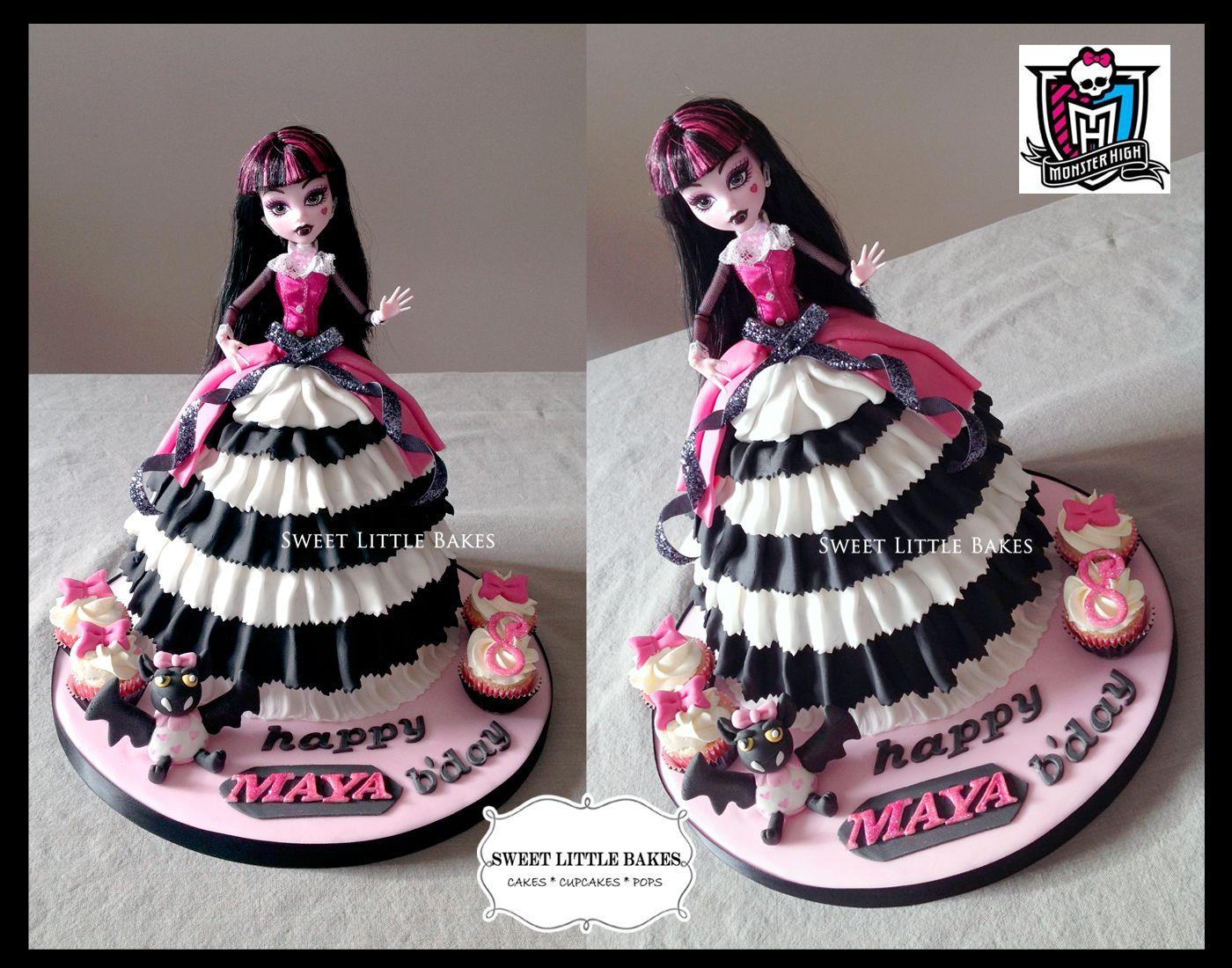 Magnificent My Cake Monsterhigh Dollcake Draculaura Monster High Personalised Birthday Cards Sponlily Jamesorg