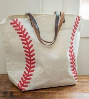 Photo of Baseball Print Jute Bag $13.99 (Retail $35) – STL Mommy