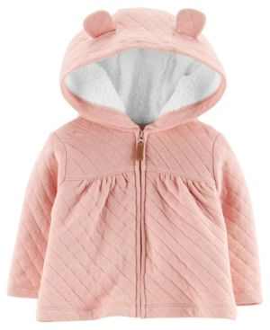 8297060ad Carter s Baby Girls Hooded Jacket with Fleece Lining - Pink 24 ...