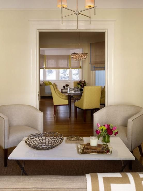 Great Pale Yellow Walls Vintage Glam! Pale Yellow Walls Paint Color, Thomas  Ou0027Brien · Living Dining RoomsModern ...