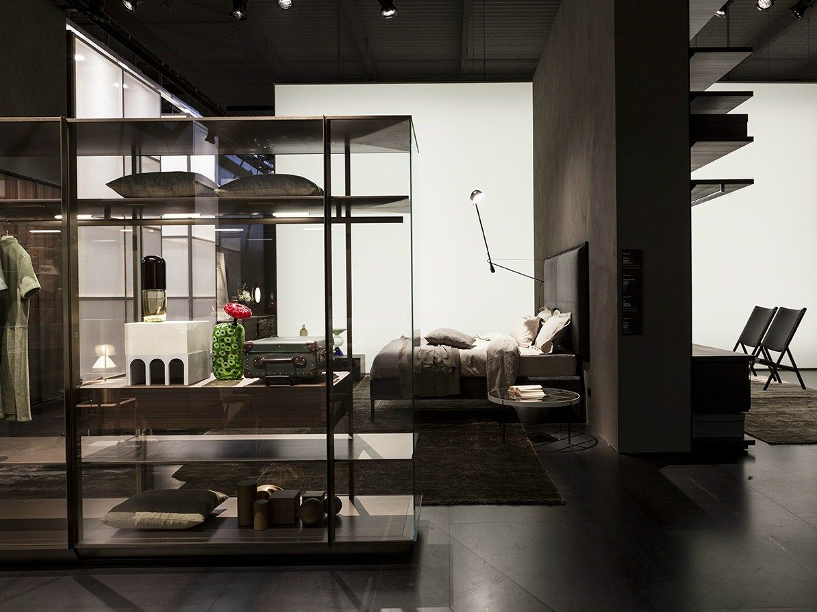 Sliding Glass And Aluminium Partition Wall Kristal By Molteni