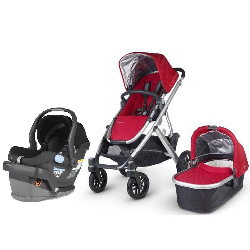 UPPAbaby Vista Travel System Denny UppaBaby Stroller With Mesa Car Seat And Base