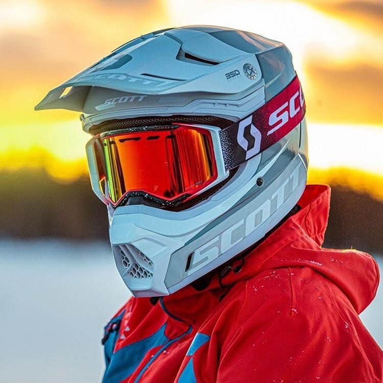 Scott Prospect White Red Orange Chrome Goggles Motocross Goggles