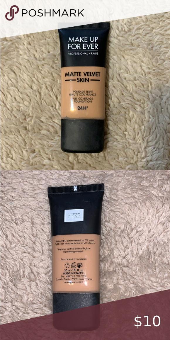 Make Up Forever Matte Velvet Skin Color Y335 in 2020