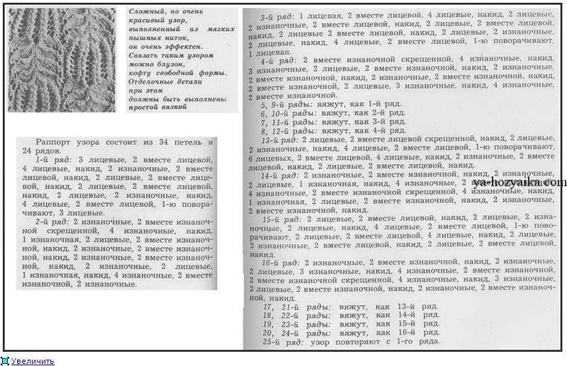 Схема вязания и описание узора медвежьи лапки фото 85