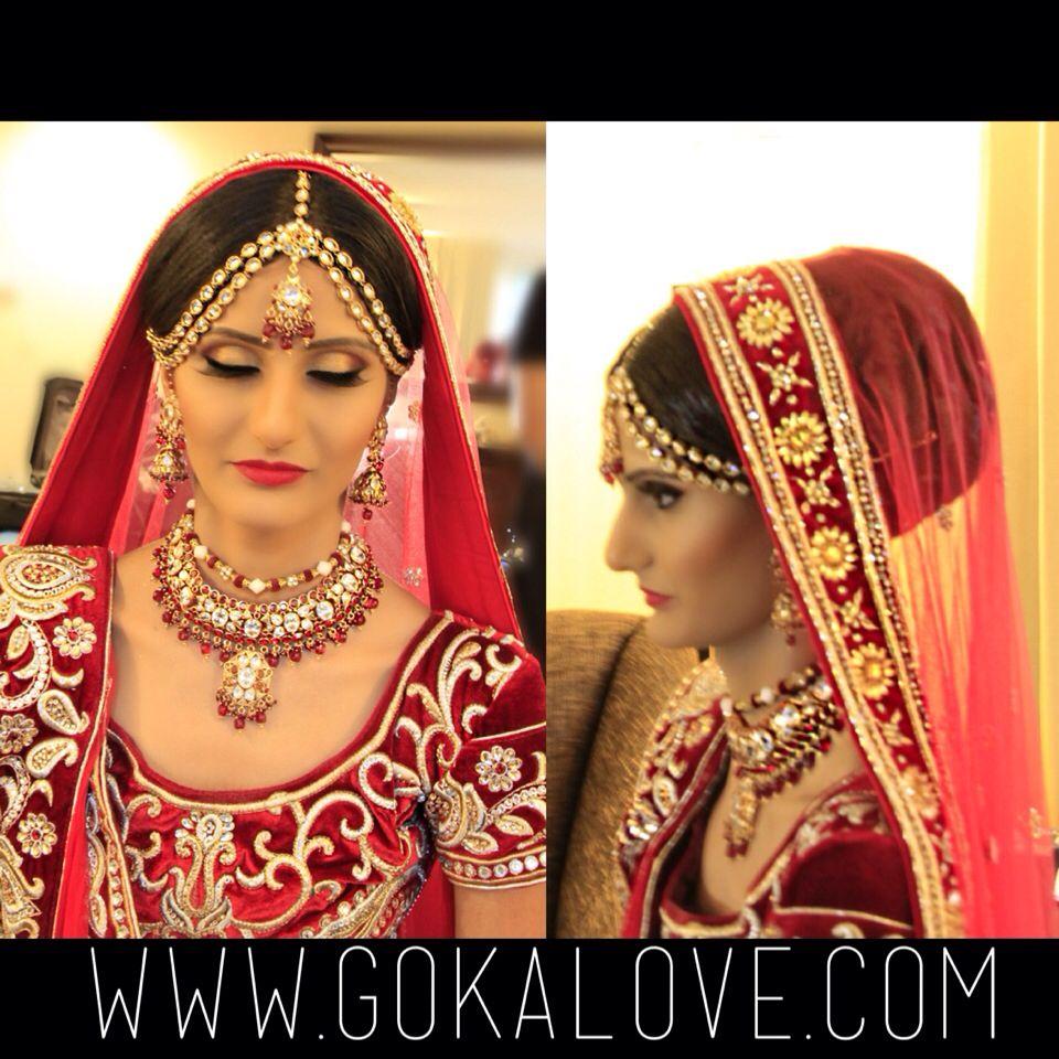 Makeup, Hair and Dupatta setting for an Indian Wedding