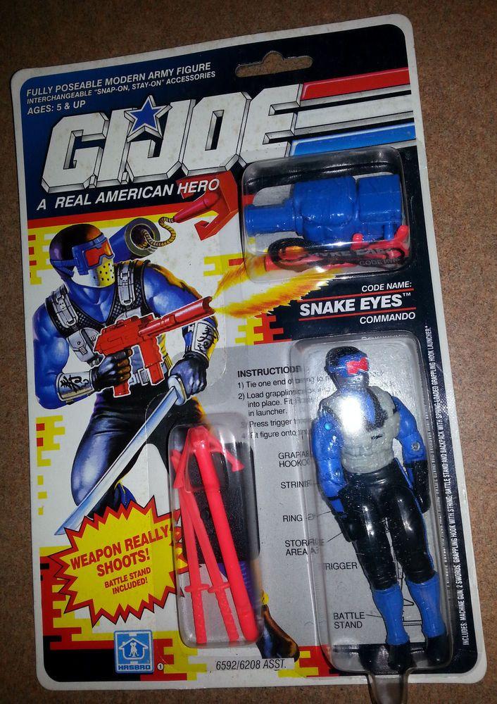 1990 Hasbro G.I. Joe Snake Eyes Commando Toy Action Figure ...