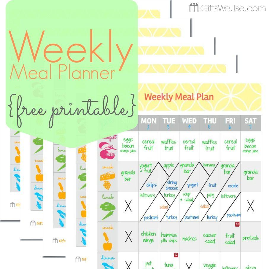 Excel Week Template Food Bi Planner