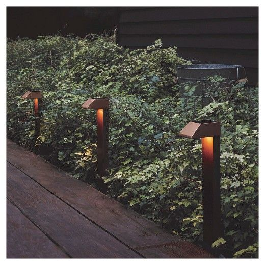 Smith And Hawken Set Of 4 Solar Path Lights Outdoor Pathways Outdoor Pathway Lighting Outdoor Solar Lights