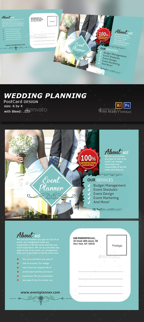 Wedding Event PostCard Pinterest Print Templates Template And - Event postcard template