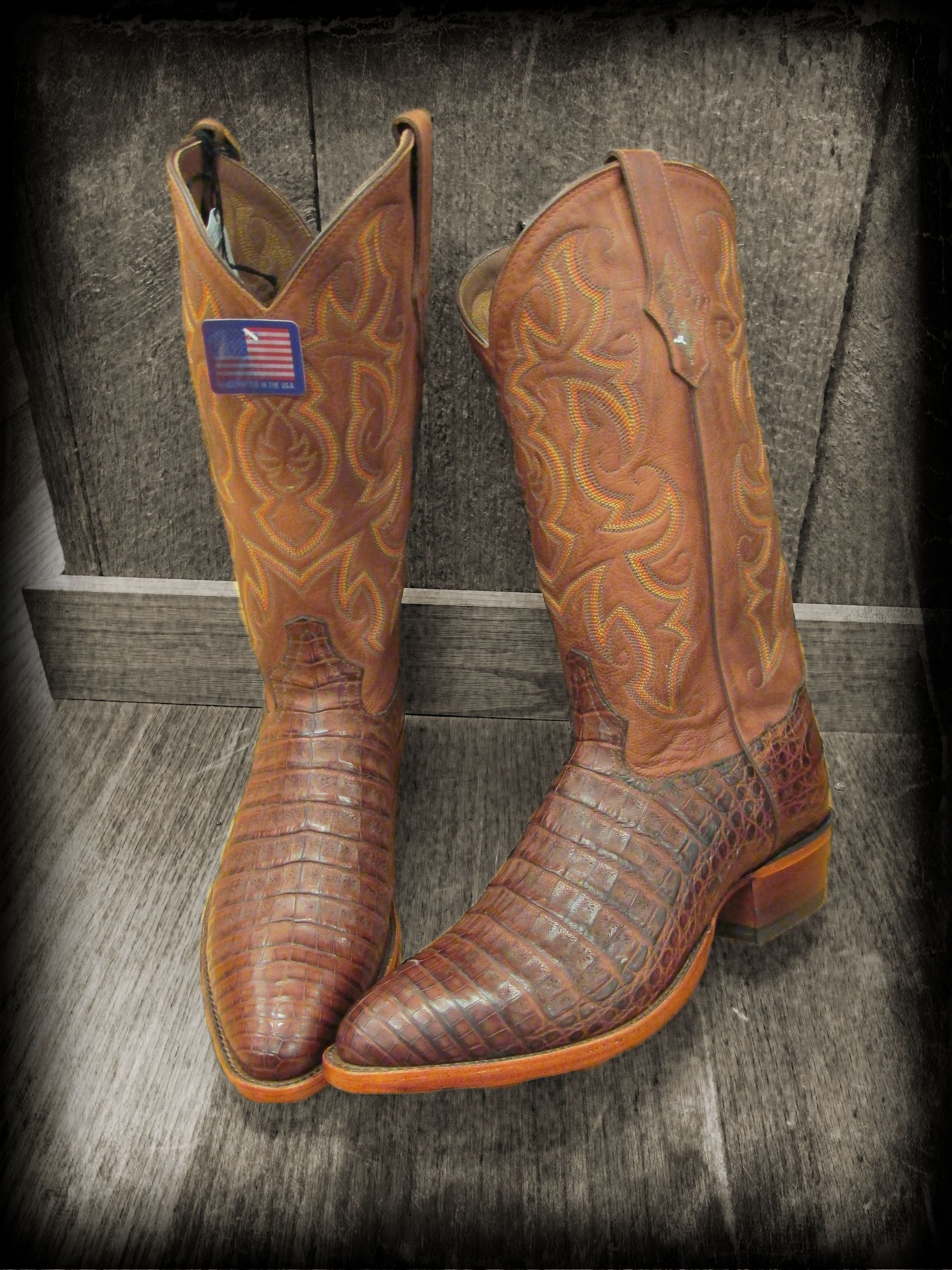 0bb07c406ae Tony Lama men's Caiman crocodile belly skin boots | Carrolls Boot ...