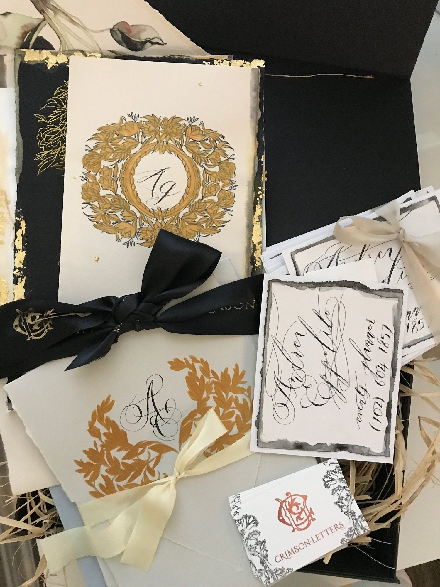 Luxe Calligraphy By Crimson Letters Invitations Design Las Vegas