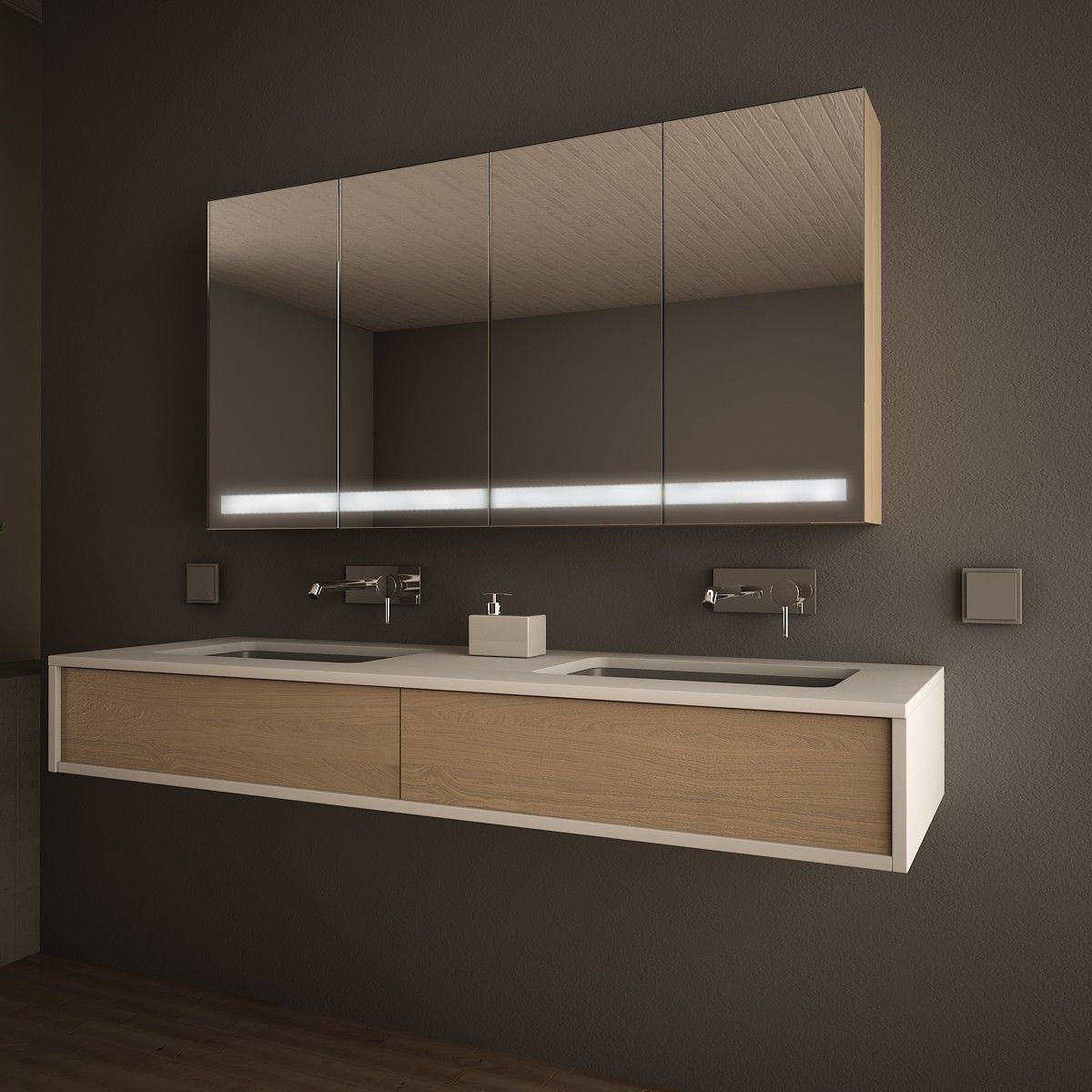 Spiegelschrank Mit Licht Bislungo 989705278 Badezimmer