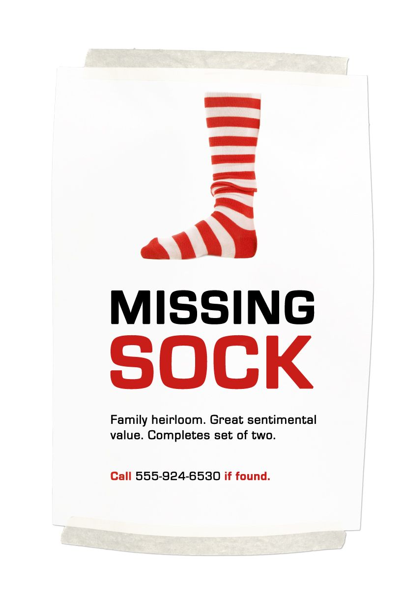 Missing Sock Classified Ads Funny Lol Makeitjingos Jingos Funny Commercial Ads Funny Commercials Funny Ads