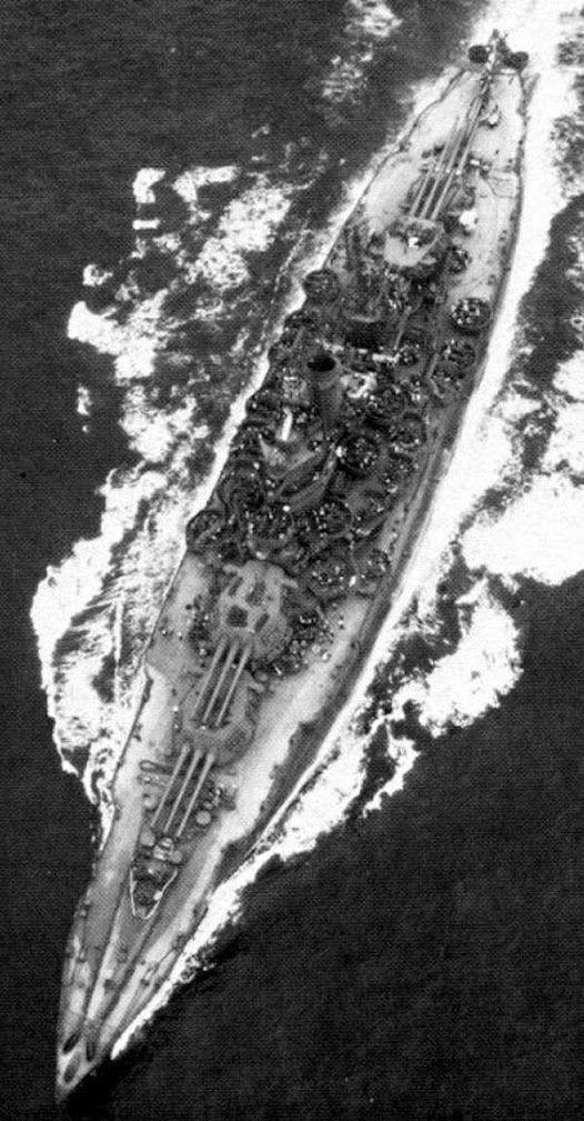 New Mexico Class Battleship - Anti-Aircraft Citadel - Twelve 14 inch naval guns (unimpeded arcs of fire).