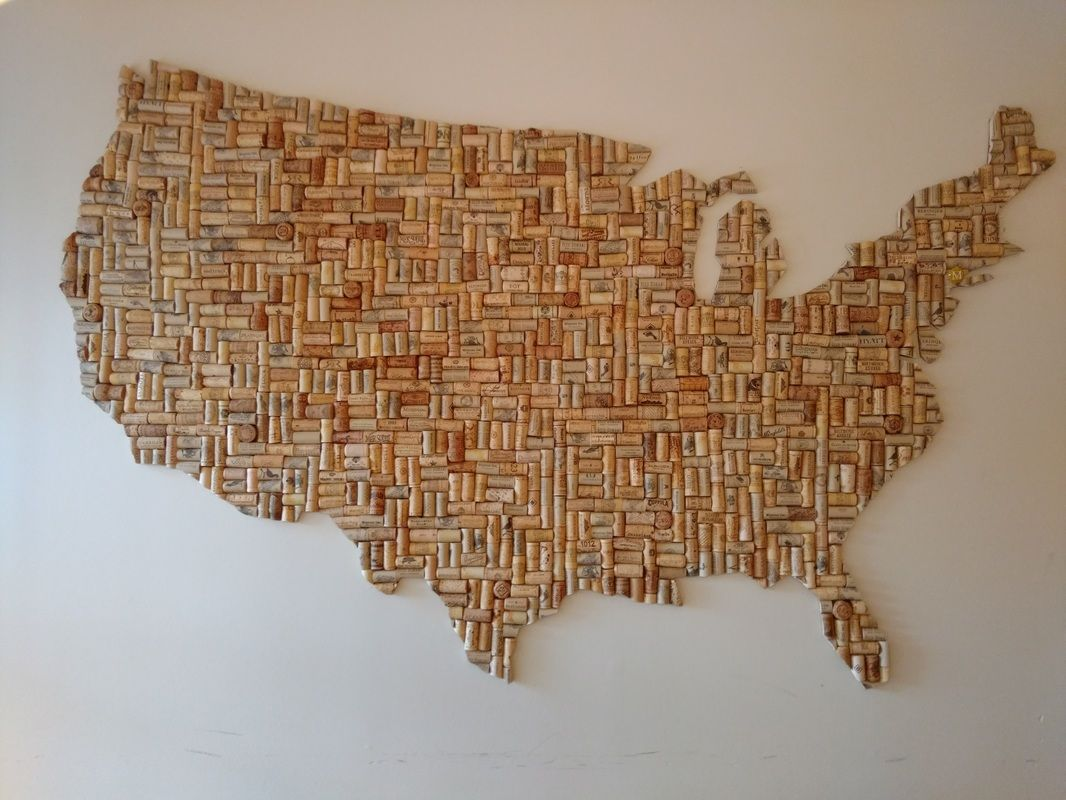 wine cork map | US maps | Pinterest | Cork map, Cork and Wine