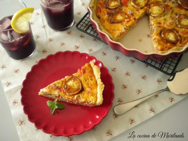 » QUICHE de jamón, tomate y queso de cabra La Cocina de Morilands