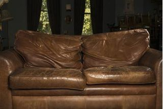 If You Have A Leather Sofa That Has Seen Better Days, With Worn Or Torn  Seat Cushions And Arms, You May Wish That You Could Afford A New One; ...