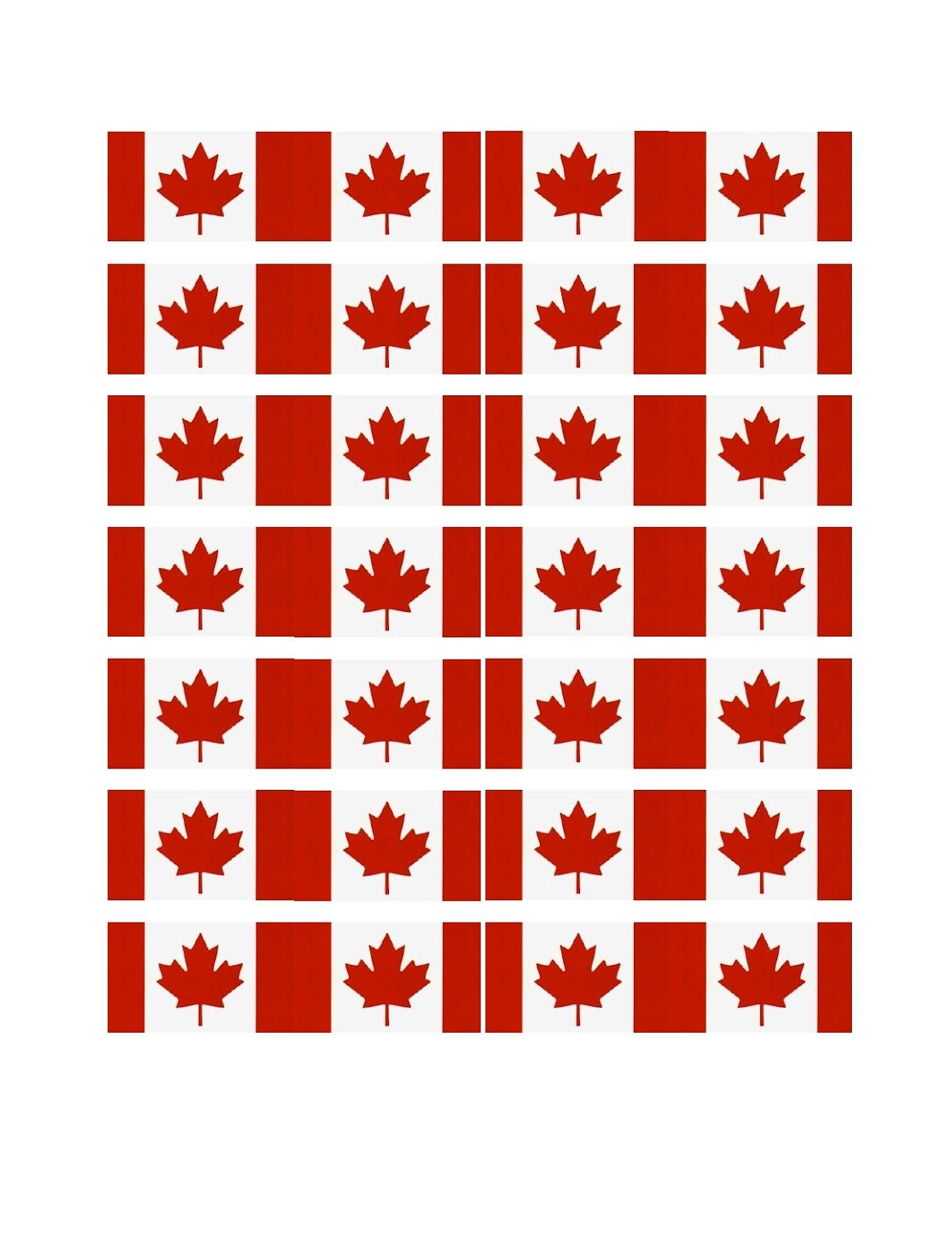 photo about Printable Canadian Flag referred to as Cost-free Printable Canada Cupcake Flags Spring Summer months