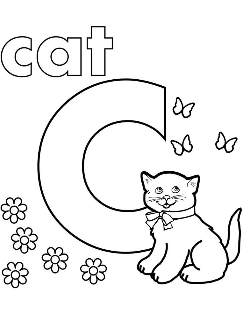 C Is For Cat Coloring Page Alphabet Coloring Pages Letter C Coloring Pages Abc Coloring Pages