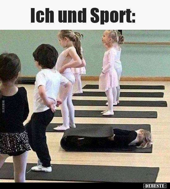 Ich und Sport..   Lustig, Humor lustig, Lustige bilder